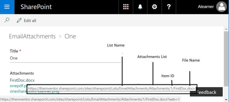 FirstDoc Attachment URL