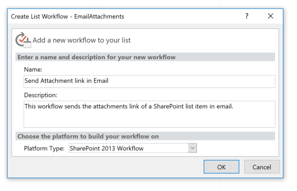Create a SharePoint 2013 Workflow
