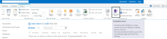 Add branding to SharePoint list forms using info-path designer | A